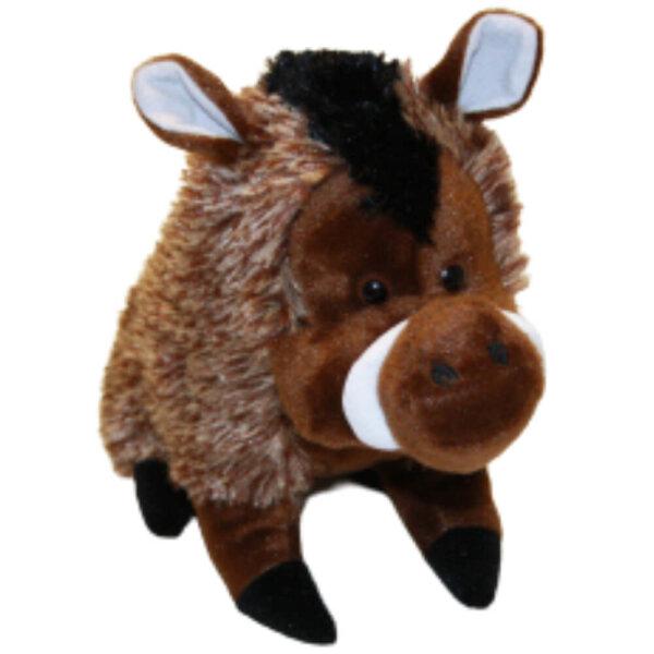 Wildschwein Kuscheltier klein - stehend, ca. 16 cm