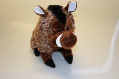 Plüsch Wildschwein stehend, ca. 20 cm, braun,...