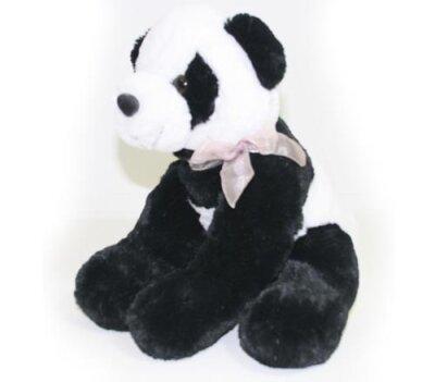 Pandabär mit rosa Schleife, Supersoft-Plüsch,...