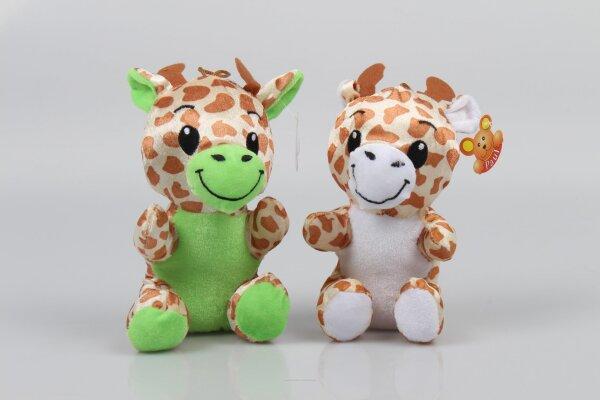Giraffe aus Plüsch ca. 18 cm aufrecht sitzend