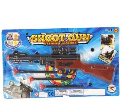 Pfeilgewehr, 33cm, mit 3 Pfeilen auf Karte 39x19cm,...