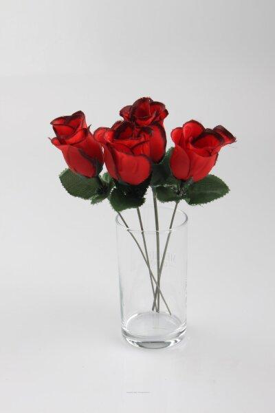 Rosenknospe,23 cm, nur rot