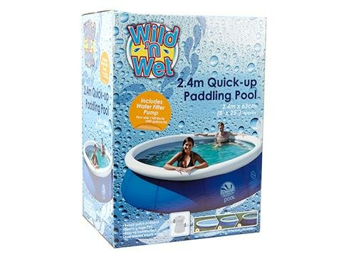 runder Quick-Up Pool mit Filterpumpe, ca. 244 x 64 cm