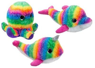Regenbogen Meerestiersortiment aus Plüsch