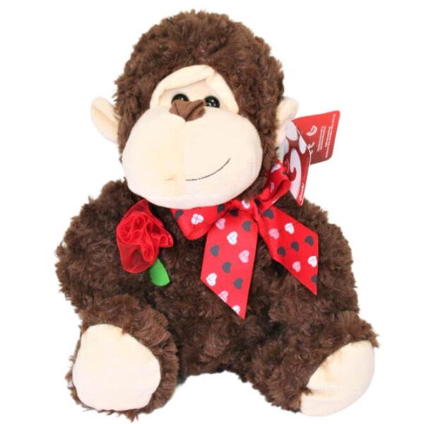 Plüschtier Affe mit Rose - ca. 44 cm