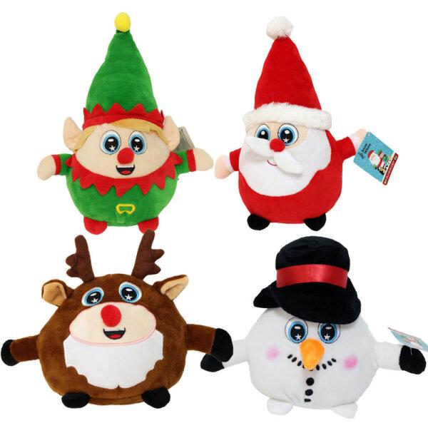 Kuglige Weihnachtsfiguren aus Plüsch