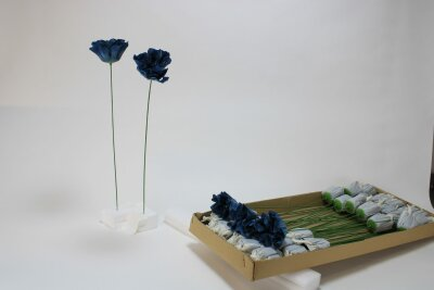 Dahlie, blau, 45 cm