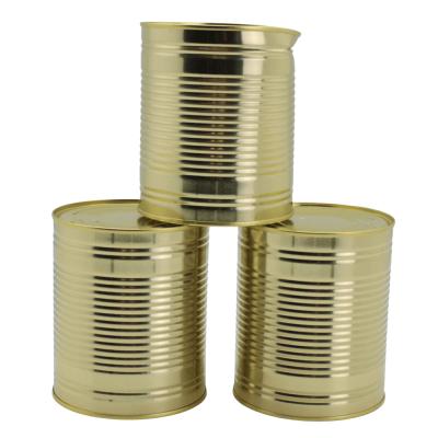 Goldene Blechdosen für Dosenwerfen - ca. 10x12 cm