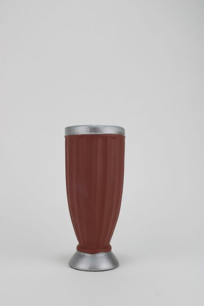 kleine Vase in rostrot, 8x19 cm