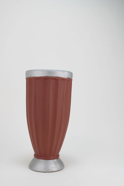 große Vase in rostrot, 13,5x28,5 cm