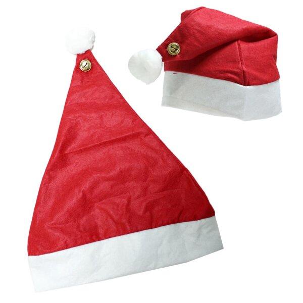 Weihnachtsmütze mit Klingel an Bommel