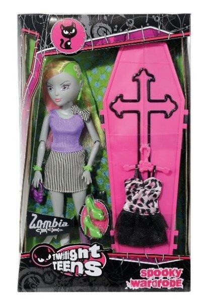 Twilight Teens Spooky Wardrobe mit Zubehör; Sarg als Kleiderschrank, zwei Kleider,zwei paar Schuhe