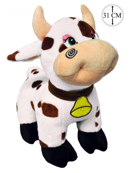 Kuh aus Plüsch stehend ca. 31 cm