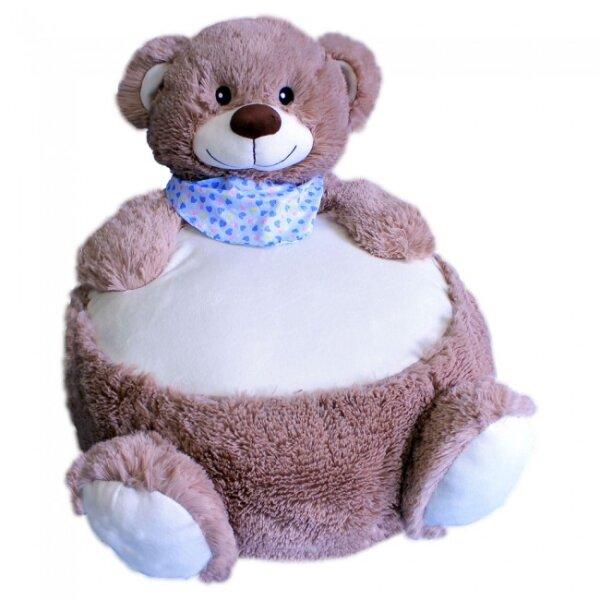 Sitzkissen-Bär ca. 45 cm, graubraun