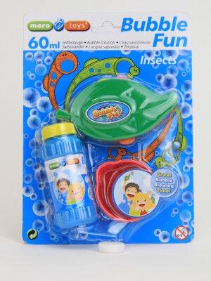Seifenblasen Laubblatt mit verschiedenen Seifenblasenmotiven