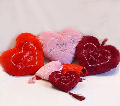 Herz aus Plüsch 3fach sortiert