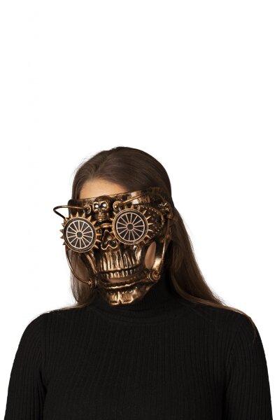 Totenkopfmaske im Steampunk-Style