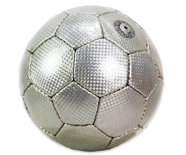 Fussball in silber, 15 cm