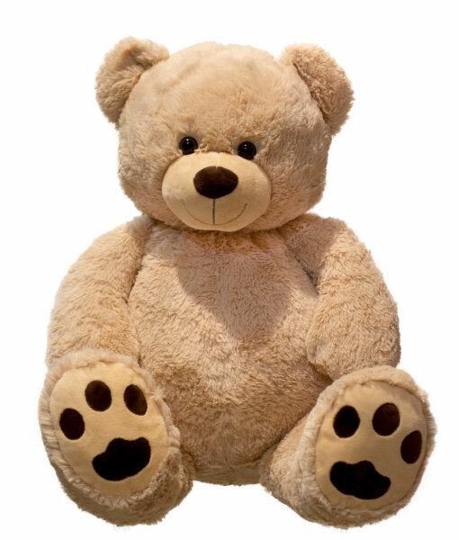 Hell Brauner Teddybär im XXL-Format - ca. 100 cm