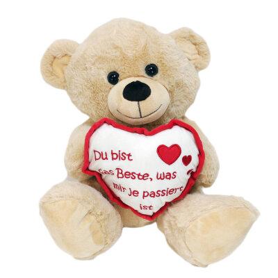 """Teddy mit Herz """"Du bist das Beste was mir je..."""