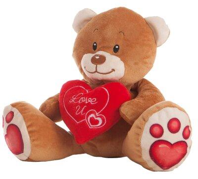 """Teddybär mit Herz """"Love U"""" - ca. 24 cm"""