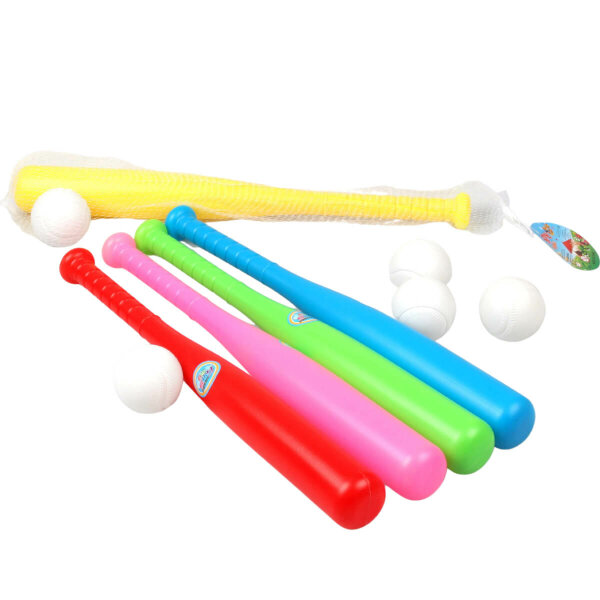 Plastik Baseballschläger für Kinder im Netz (inkl. Baseball) - ca. 43 cm