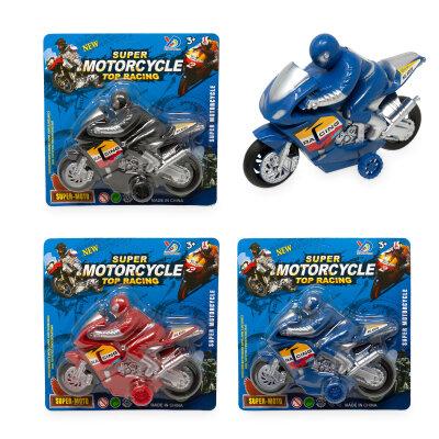 Spielzeug Motorrad mit Rückzug - blau