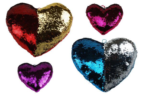 Pailletten-Herz 4fach sortiert ca. 30 cm