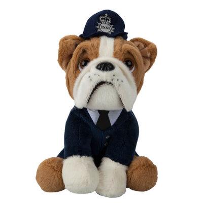 "Bulldogge Kuscheltier ""Polizei"" - ca. 20 cm"