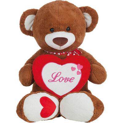 """Großer Teddy mit Herz """"Love"""" und..."""