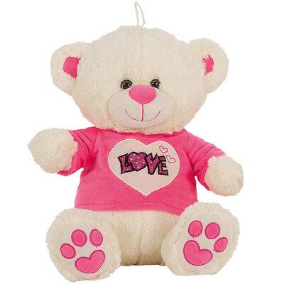"""Teddy mit T-Shirt """"Love"""" rosa - verschiedene..."""