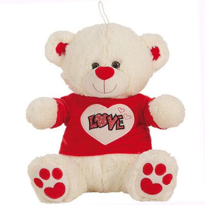 """Teddy mit T-Shirt """"Love"""" rot - verschiedene..."""